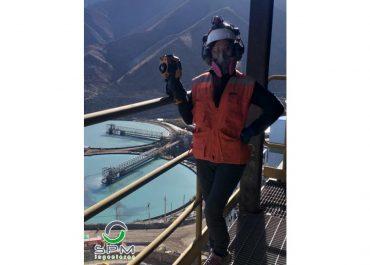 Rosa Briceño, Técnico Nivel Superior en Metalurgía se incorporó el 9 de septiembre al equipo MONCON.